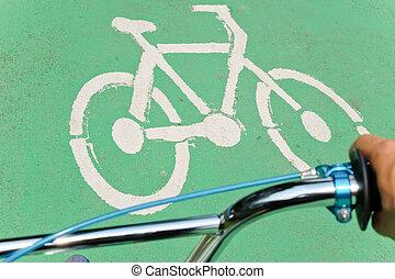 bicikli, út cégtábla