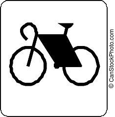 bicikli, alatt, vektor