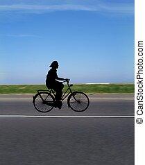 bicikli elnyomott