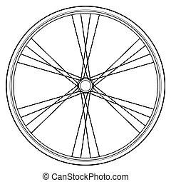 bicikli, gördít, vektor