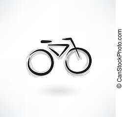 bicikli, grunge, ikon