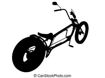 bicikli, helyett, biciklista, egy