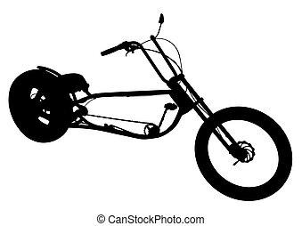 bicikli, helyett, biciklista, két