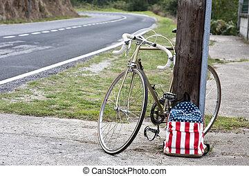 bicikli, iskola táska