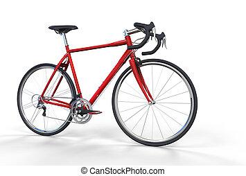 bicikli, piros, 3