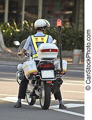 bicikli, rendőrség, kínai