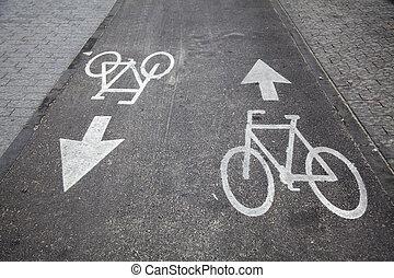 bicikli sáv