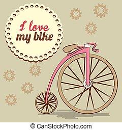 bicikli, tervezés, vektor, illustration.