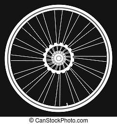 bicikli tol, fekete, elszigetelt, kártya