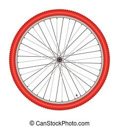 bicikli tol, white, háttér, vektor, ábra