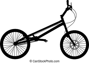 bicikli, vektor, árnykép