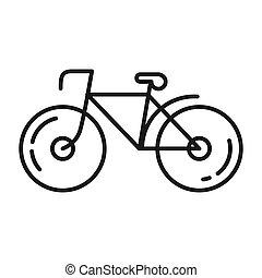 bicikli, vektor, tervezés, ábra
