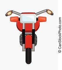 bicikli, vektor, tervezés, klasszikus