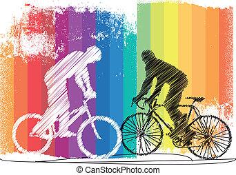 biciklisek, ábra