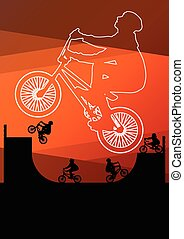 biciklista, bicikli rider, extrém