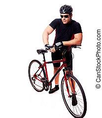 biciklista, elnyomott bicikli