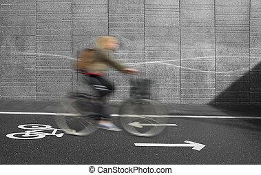 biciklista, indítvány, életlen