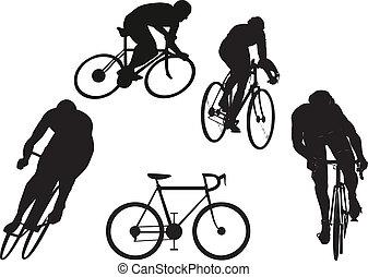 biciklista, körvonal