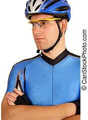 biciklista, magabiztos