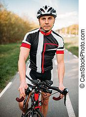 biciklista sisak, képzés, sportruházat, bicikli