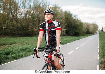 biciklista sisak, sport, bicikli, sportruházat