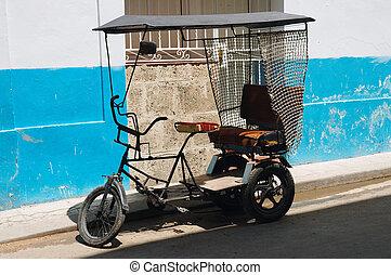 bicitaxi, κουβανός , μεταφορά
