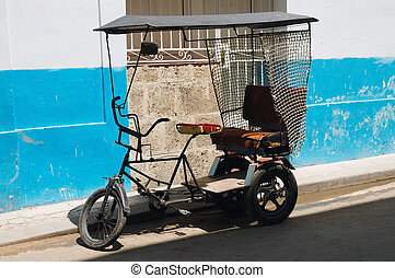 bicitaxi, cubaine, transport