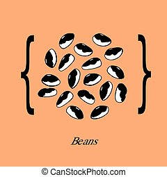 Bicolor beans, vector illustration background