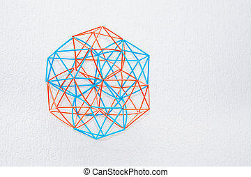 Bicolor Handmade Dimensional Model Of Geometric Solid