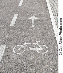 bicycle and arrow
