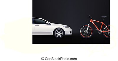 bicycle and car 01
