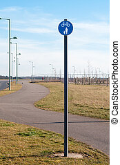 Bicycle and pedestrian lane. British road sign