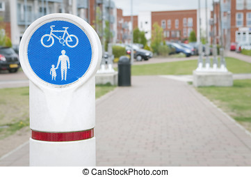 Bicycle and pedestrian lane