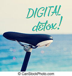 bicycle and the text digital detox