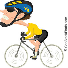 Bicycle Athlete - Caricature illustration of a bicycle ...