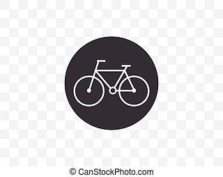 Bicycle, bike icon. Vector illustration, flat design.