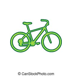 Bicycle, Bike sign. Vector. Lemon scribble icon on white background. Isolated