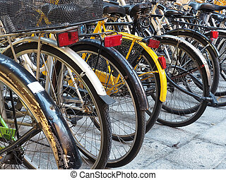 Bicycle bikes parking