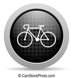 bicycle black circle web glossy icon
