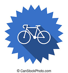 bicycle blue flat icon