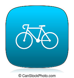 bicycle blue icon