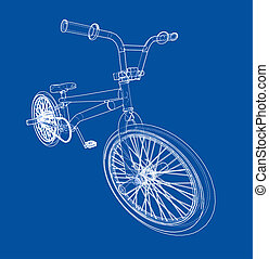 Bicycle bmx sketch