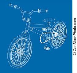 Bicycle bmx. Vector