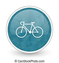 Bicycle brillant crystal design round blue web icon.
