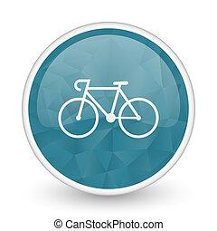 Bicycle brillant crystal design round blue web icon.