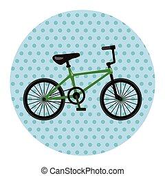 bicycle cartoon design elements vector