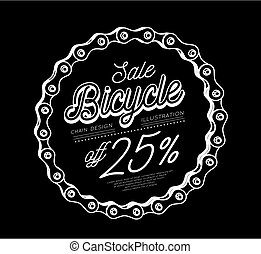 Bicycle chain. 3D design vector