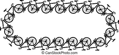 Bicycle chain - Editable vector design of a chain made of...