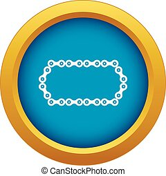 Bicycle chain icon blue vector isolated