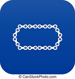 Bicycle chain icon digital blue